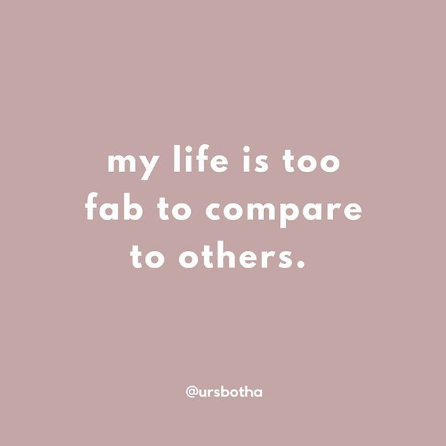 Comparing is a waste of time. Do your journey xxx