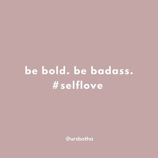 Stepping into your power and owning it IS bold & badass. Don't let anyone tell you differently ❤️