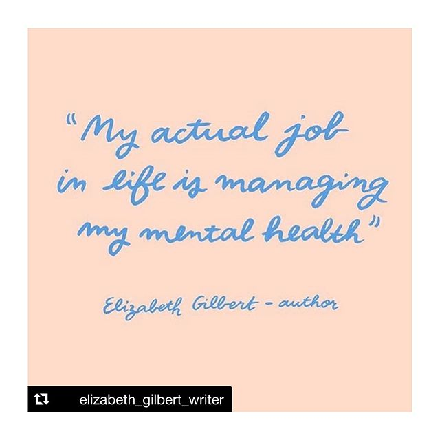 FYI, the pay is shit. Image: @melanie.johnsson #mentalhealthawareness #lizgilbert #elizabethgilbert #melaniejohnsson #catch22