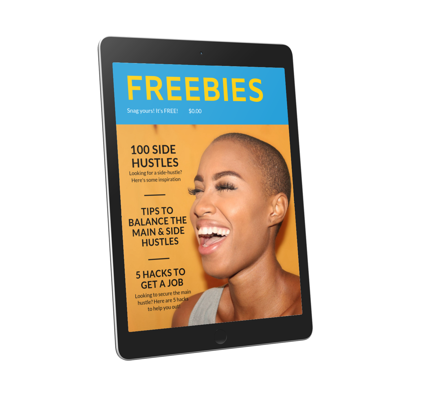 don't wait! start your hustle now…here's help! - Below are a few resources to help you get started with your main and side hustlesPlease note: Hustle hours are only available to young entrepreneurs (ages 16 - 30) and are unavailable to anyone who takes advantage of the free consultation.FREE: 100 Side-Hustles to Inspire YouFREE: The Ultimate Side-Hustler's Guide to help you balance both hustlesFREE: 5 Hacks to Get the Job You Want