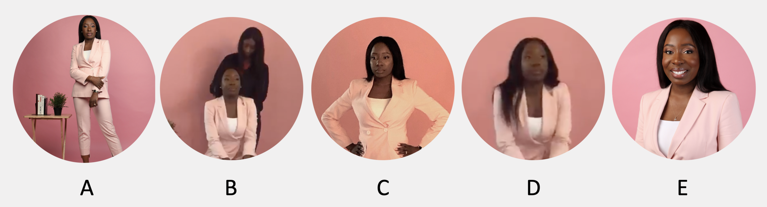 Which picture is best suited for a LinkedIn profile picture?