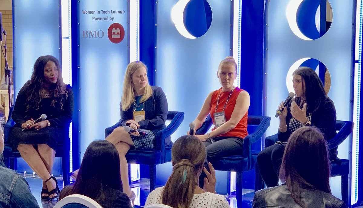 Women In Tech Lounge by BMO  Image Source: @CMMcgowan (Twitter)