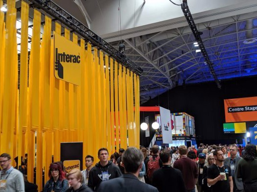 Interac Booth  Image Source: www.itbusiness.ca