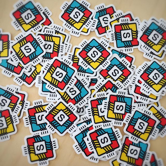 Our second order of stickers arrived!!! Printed by @stickermule designed by the lovely @the_erin_rose