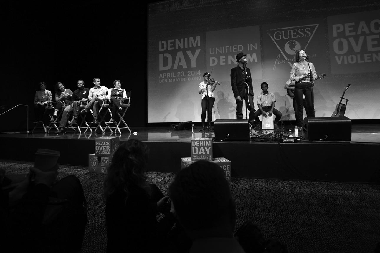 Aloe Blacc & Maya Jupiter performing at GUESS? Headquarters, Denim Day April 23, 2014