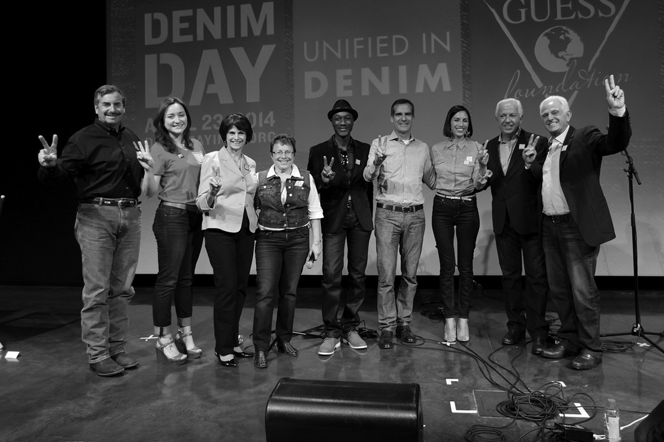 Peace Over Violence 15th anniversary of Denim Day at GUESS? Inc. Headquarters on April 23, 2014 in Los Angeles, California.