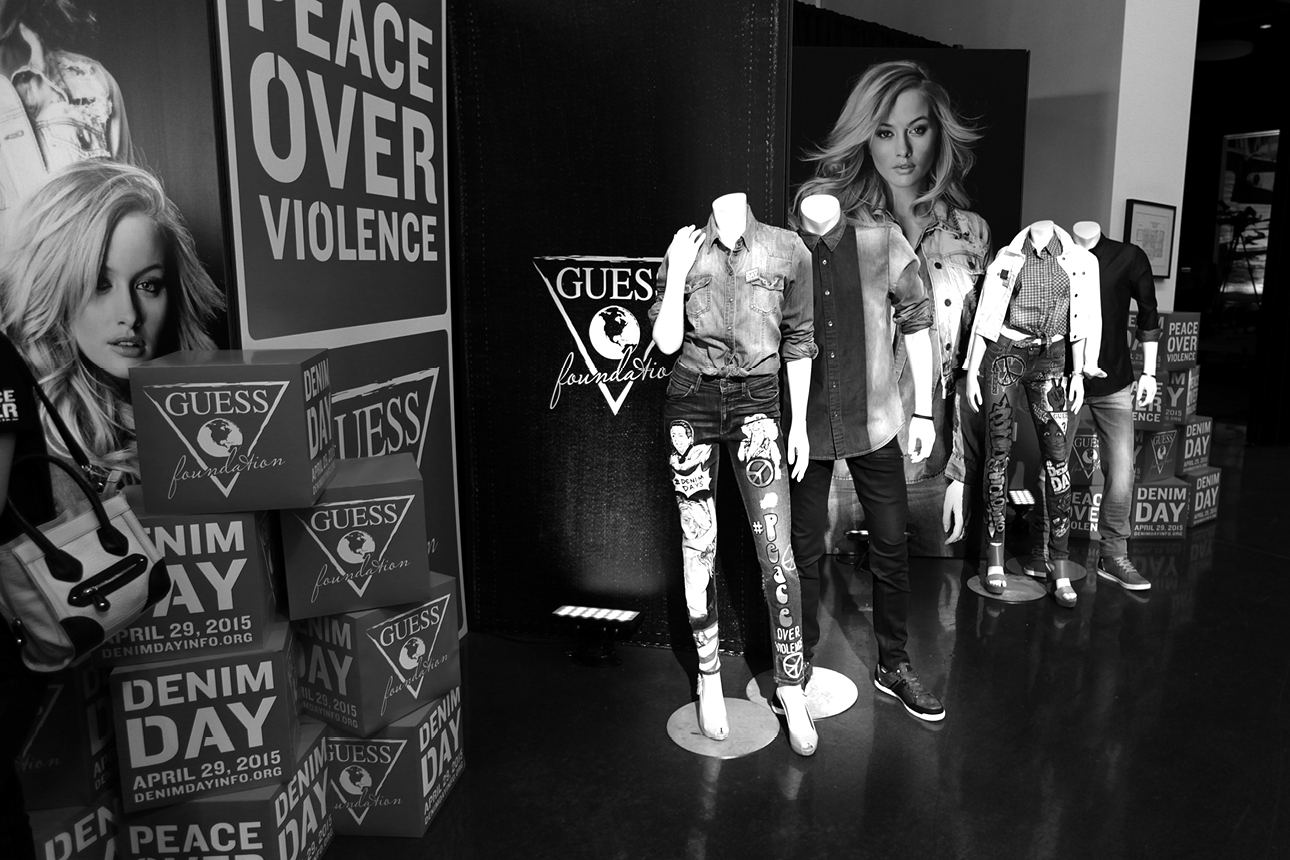 16th anniversary of Denim Day at GUESS? Inc. Headquarters on April 29, 2015 in Los Angeles, California.