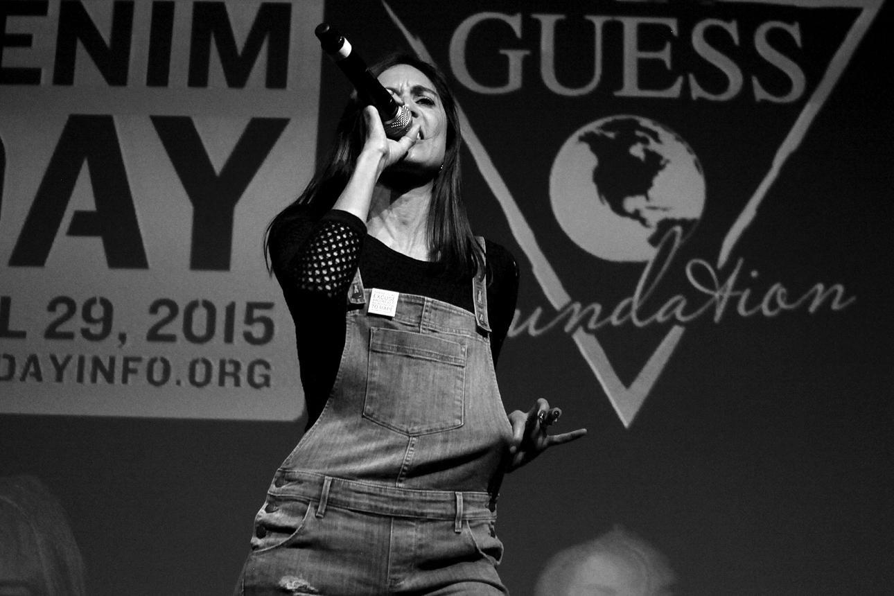 Maya Jupiter performs at GUESS? Inc. Headquarters on April 29, 2015 in Los Angeles, California.