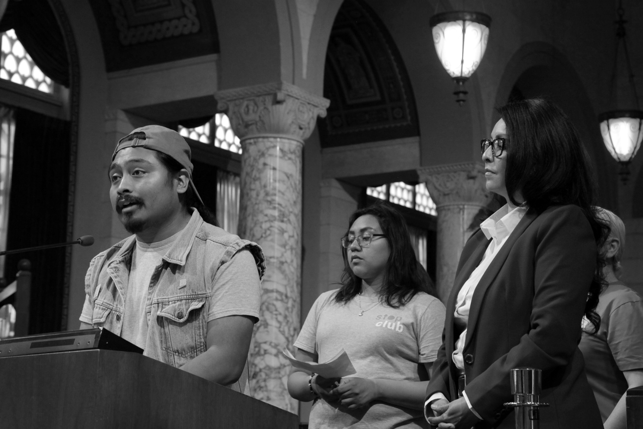 POV Staff and Youth Leader, Leslie joined Councilwoman Nury Martinez in Council Chambers when the City of LA, once again, declared Denim Day in LA!