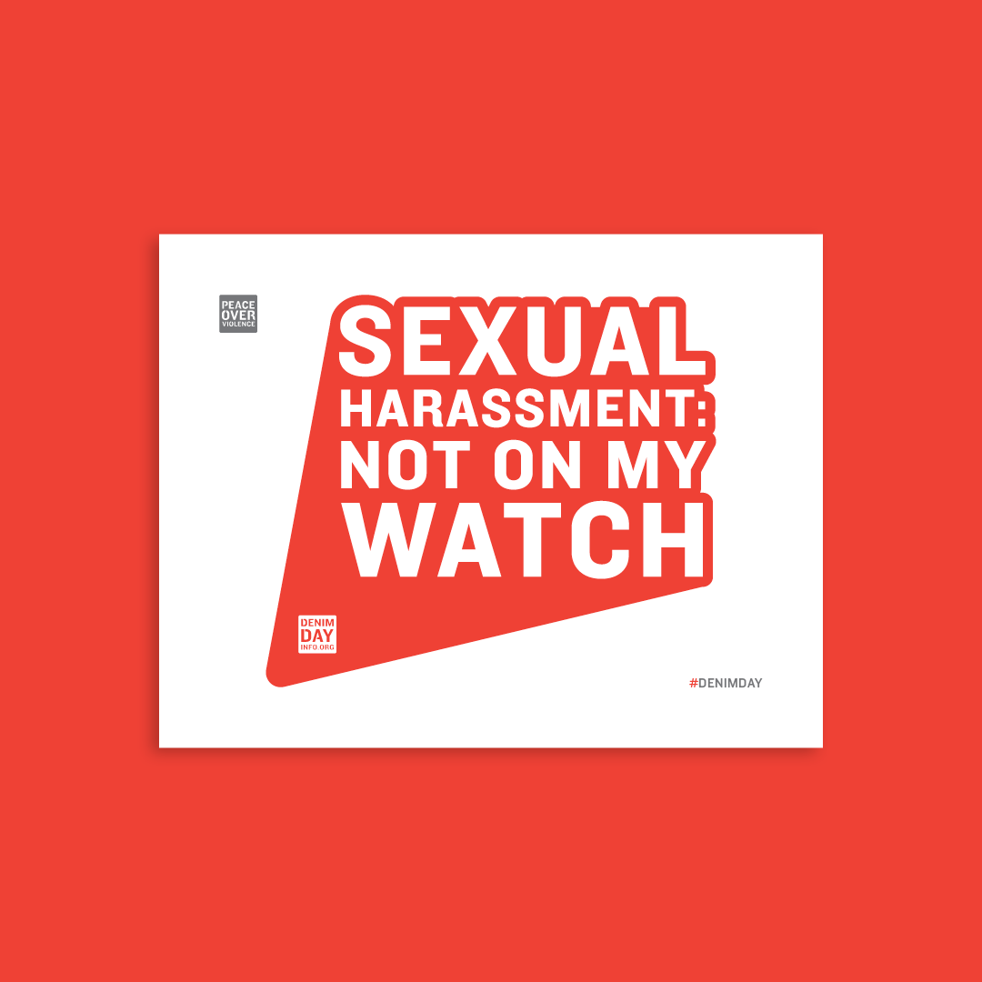Sexual Harassment: Not on My Watch - Letter 8.5 x 11 in