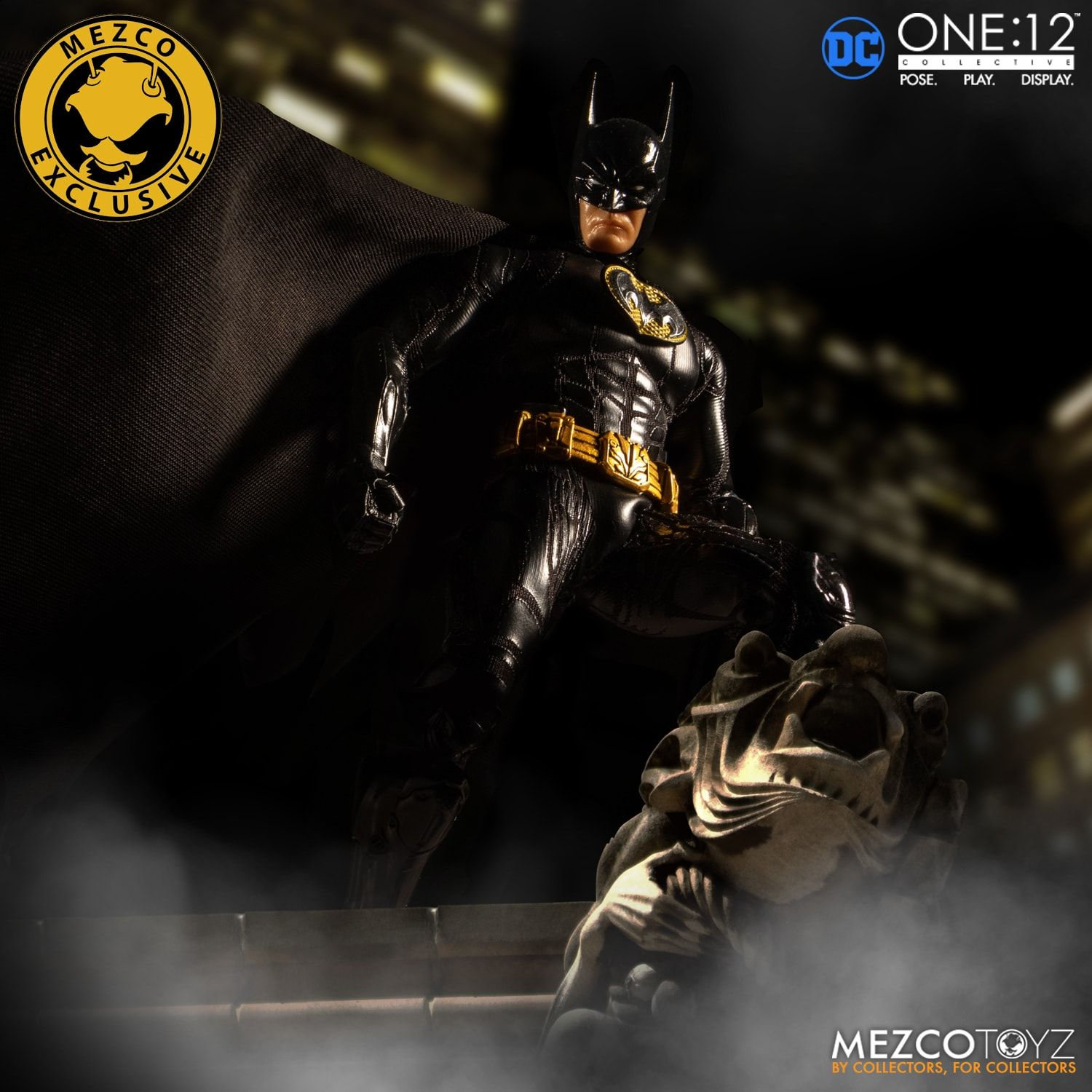 MEZCO ONE:12 COLLECTIVE Exclusive Batman Sovereign Knight Onyx Edition