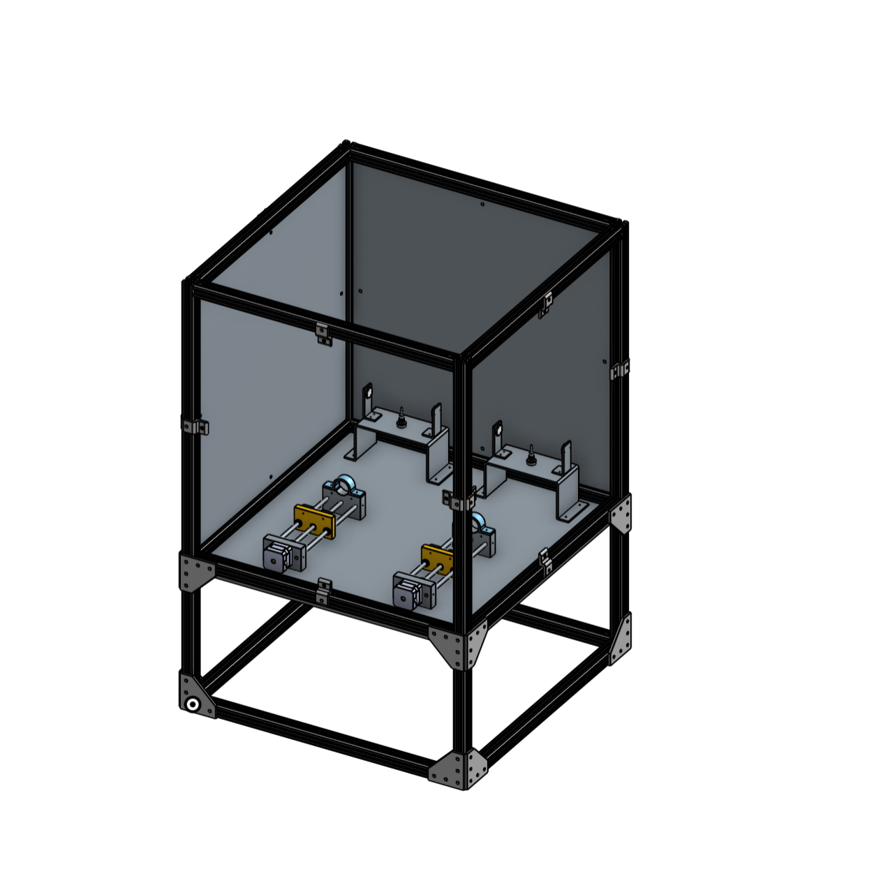A rough CAD model of the system