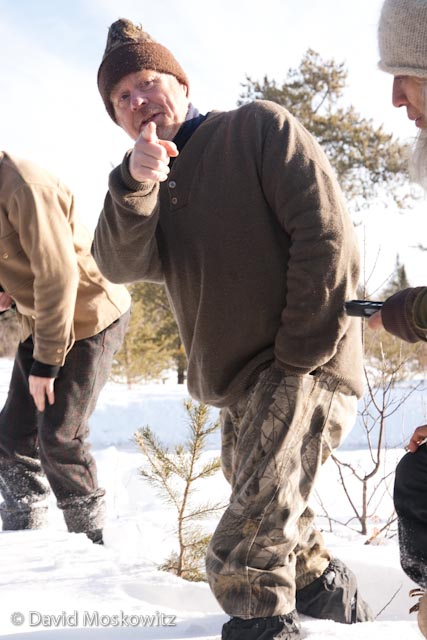 Conservation Biologist and wolf researcher Ron Schultz shared tracking tips and stories from his years of field work capturing and collaring wolves in the area.
