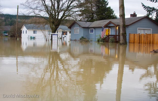 Flooded house for sale. Carnation, WA