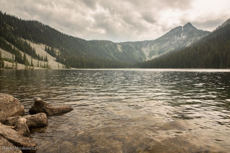 A cloudy day on Devils Hole, a subalpine lake in the Dark Woods Preserve.