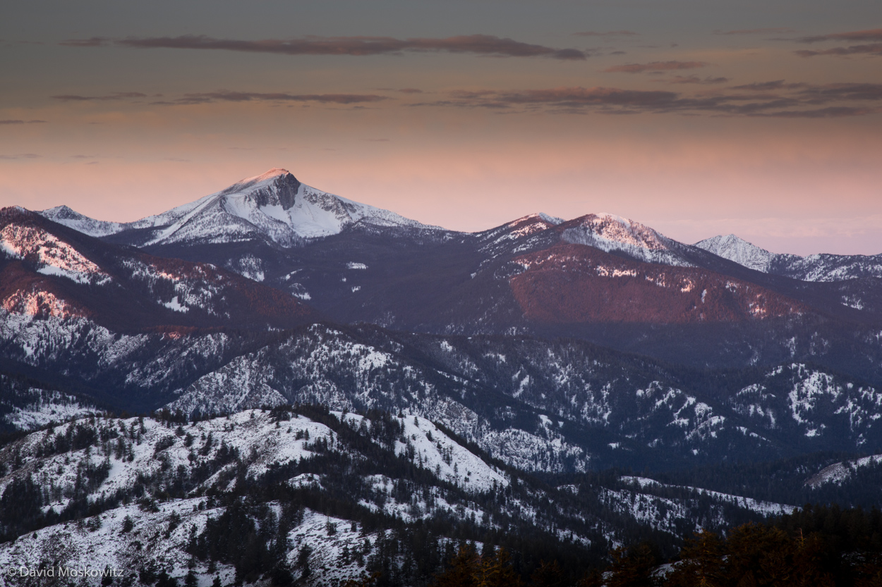 First light on Oval Peak, one of the highest summits the Lake Chelan-Sawtooth Wilderness.