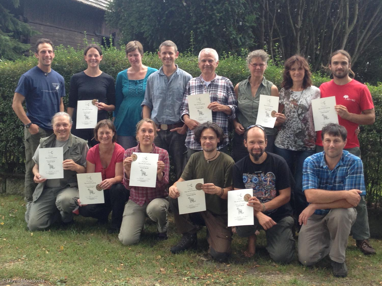 Numerous certificates where awarded in all 4 countries we visited including everyone who participated in the evaluation in Germany, pictured here. Congratulations to everyone. We will be finding an online home for the names and certification levels of folks certified in Europe through Cybertracker Conservation shortly. Stay tuned!