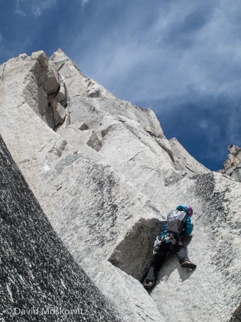 Erin Smart sending the roof on the 4th Pitch of McTech Direct.