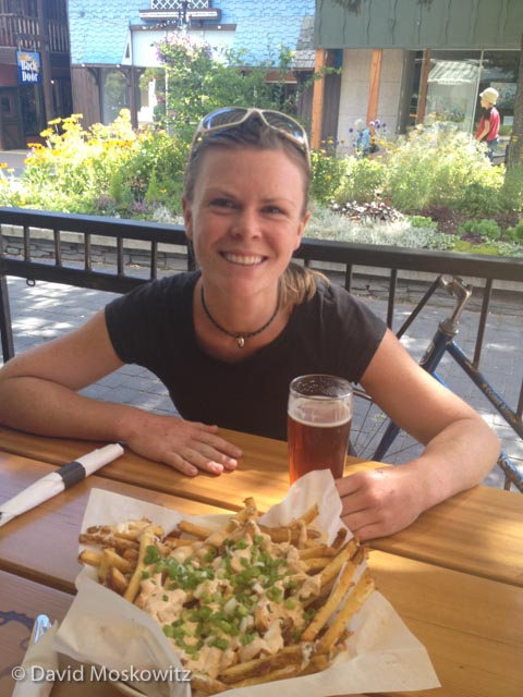"""A basket of """"mucky fires"""" and a pint of IPA at the Pedal and Tap in Kimberly, BC was a perfect way to celebrate a successful trip to a stunning location!"""