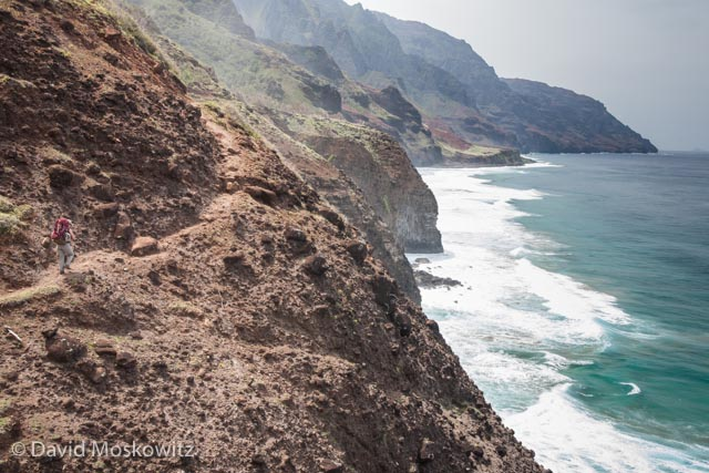 Stunning views highlight much of the Kalalau trail on Kauai's Napali Coast.