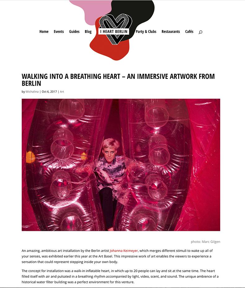 iHeart Berlin  Apr. 2017 Article on BREATH ing HEART by MICHALINA online