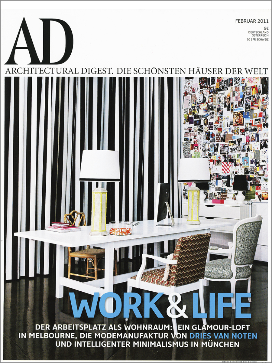 Architectural Digest, Germany  Feb. 2011
