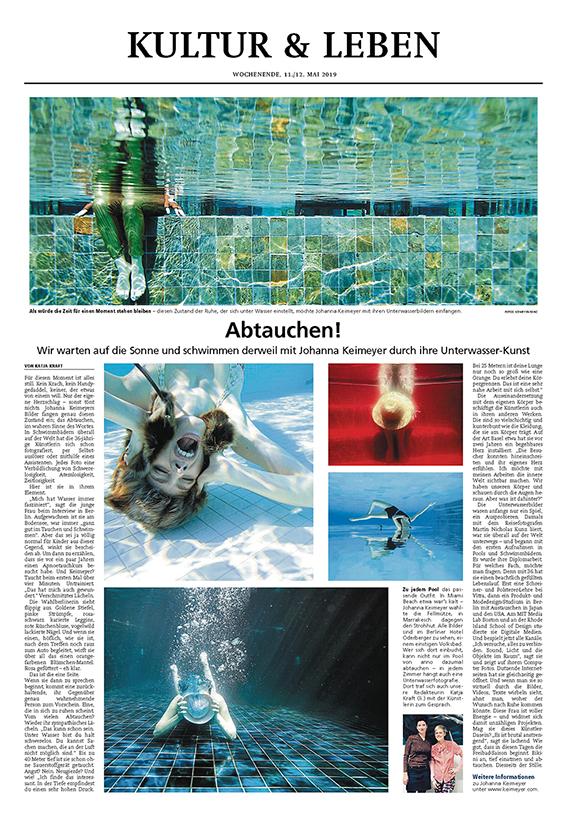 Münchner Merkur Feuilleton  May 2019  Interview by KATJA KRAFT
