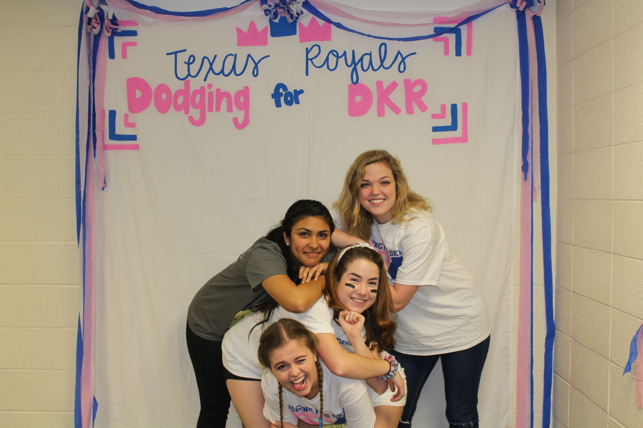 Caitlin, Cynthia, Mackenzie, and Gwen at our annual Dodging for DKR fundraiser.