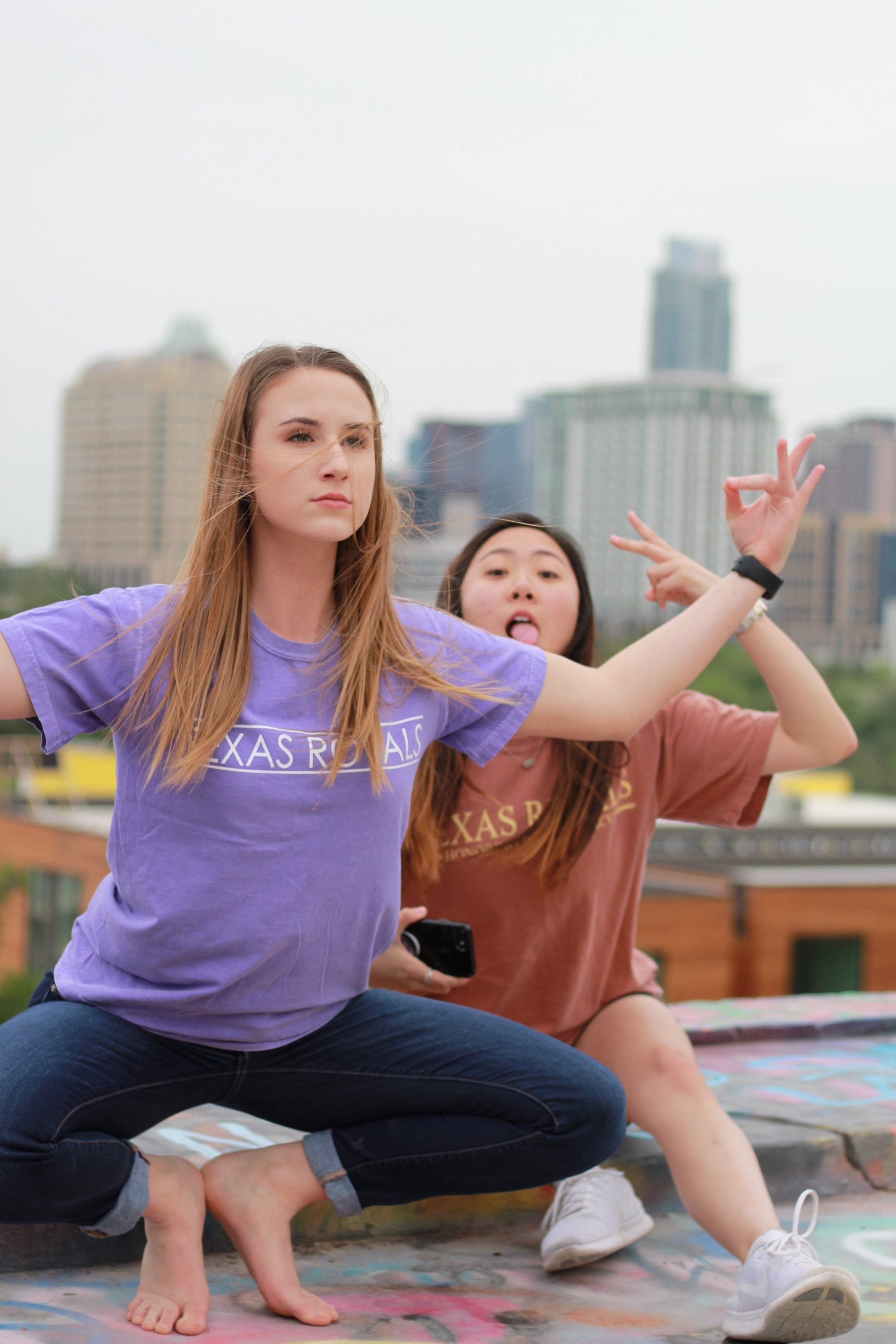 Silly moments while sporting fabulous Texas Royals merch
