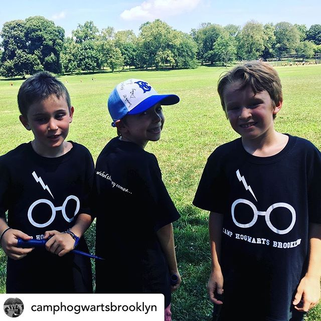 Posted @withrepost • @camphogwartsbrooklyn Our wizarding week is off to a great start!  #summercamp #brooklynkids #somethingwickedthiswaycomes #harrypotter #summerinbrooklyn #brooklynnyc