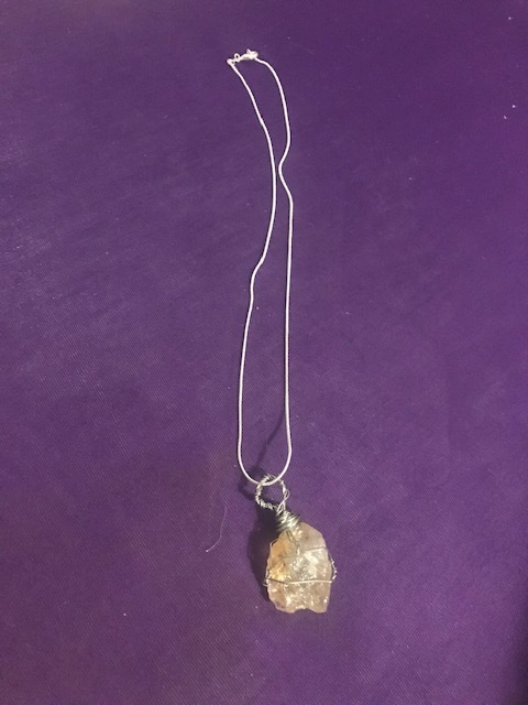 Citrine Wrapped Necklace $30   Citrine helps to open up the sacral chakra, which is linked to sexuality and creativity.