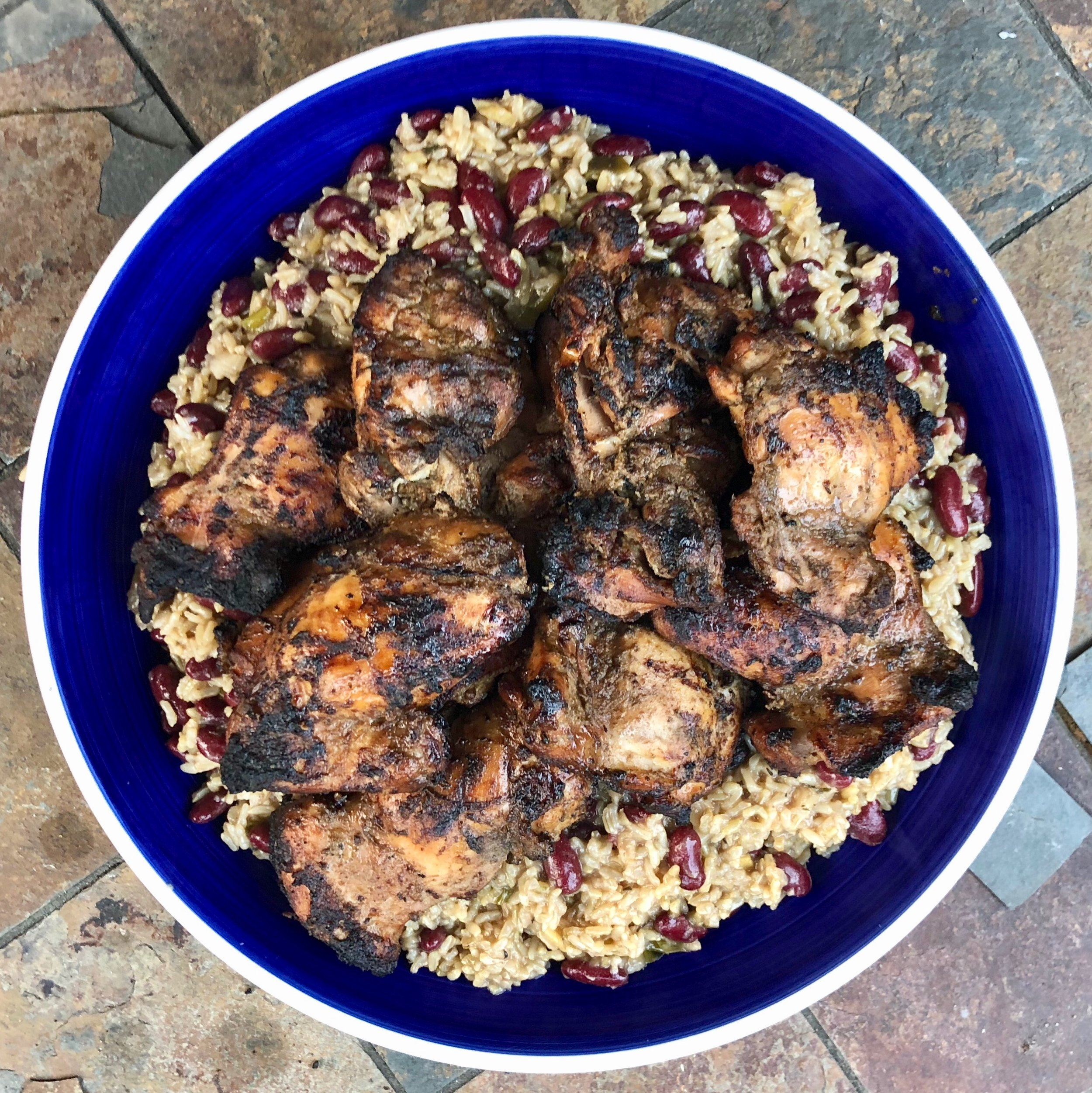 Jerk Chicken Thighs with Peas & Rice.jpg