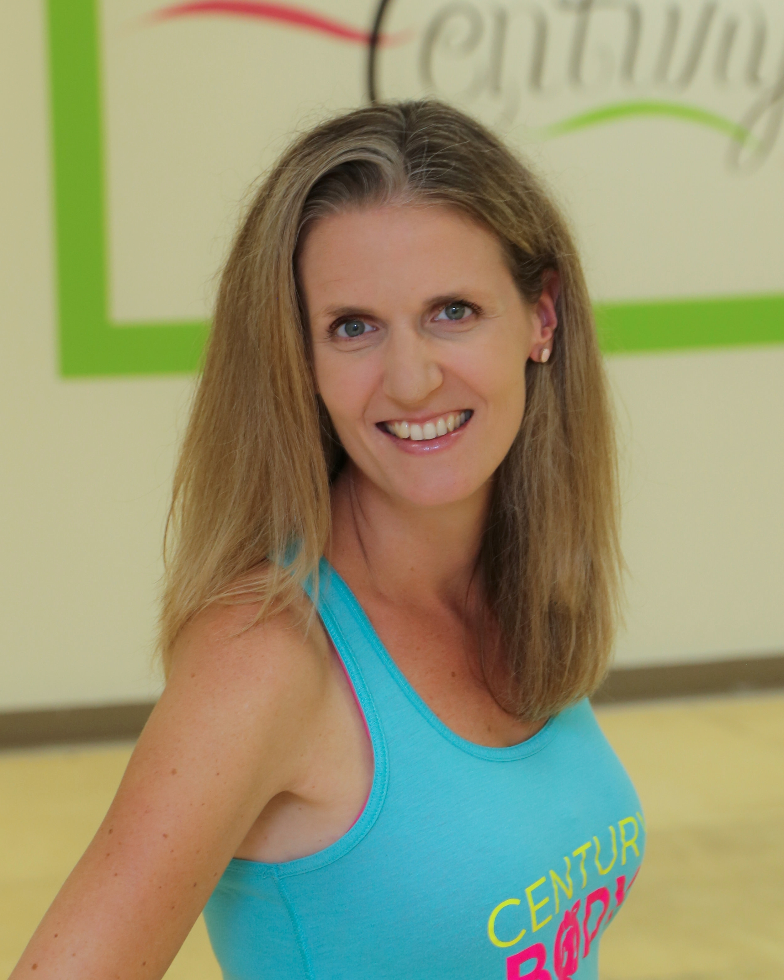 Sigi Buckner   I've been part of the Century Body family since 2010, first as a student then as a Zumba® Kids instructor in 2012. I moved onto grown ups shortly afterwards. There's so much to love about Zumba® Fitness — the music, the moves, the smiles, the sweat you don't notice until after the workout is over. But as an instructor, I love watching students grow, especially when they started their first class in the back and then find themselves letting loose and joining me closer to the font. Won't you come dance with me?