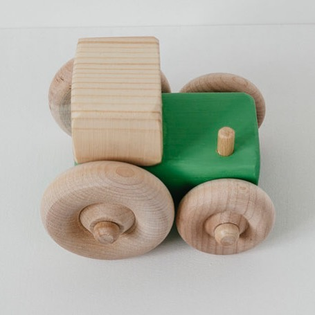 What did the little green tractor say to the big green tractor?.. . Move a little closer John Deere  #tinkebu #madeincornwall #tractortoy #tractors #woodentoys #playtime #babygifts #specialgift #ecotoys #plasticfree #sustainableliving #wastefreeliving #craft #handmade #pushalongtoys
