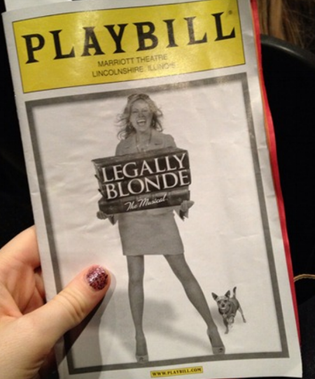 Legally Blonde Playbill April 2012