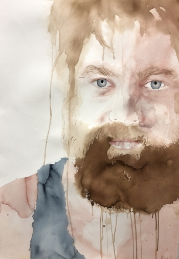 Pete  Alisha Rich  Rich  Watercolour  356 gsm paper 648 x 1016 mm