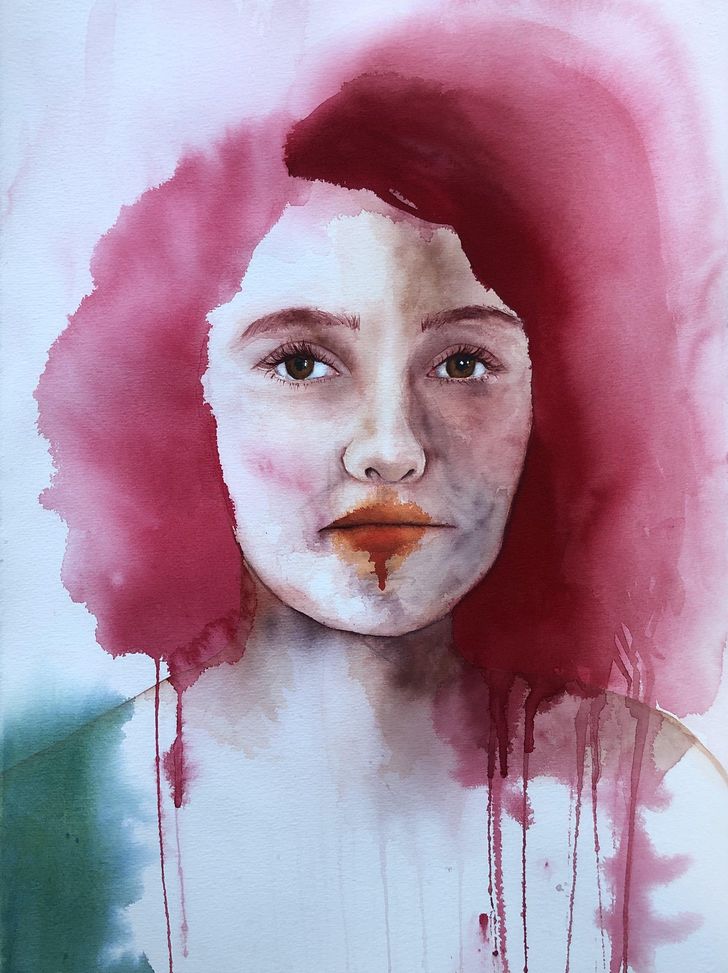 Nicole  Alisha Rich  Watercolour  640 gsm paper 560mm x 760mm