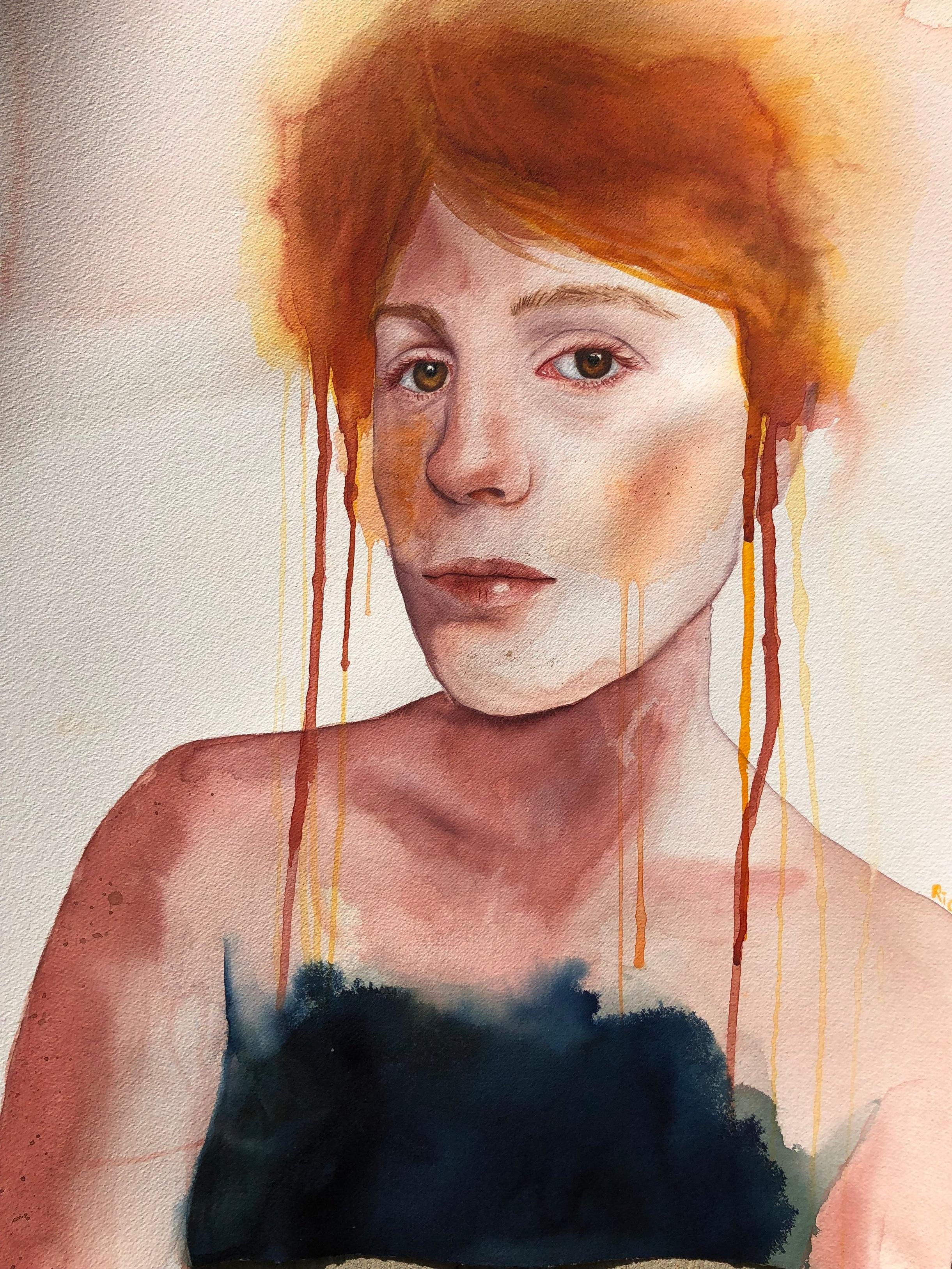 Romy  Alisha Rich  Watercolour  640 gsm paper 560mm x 760mm