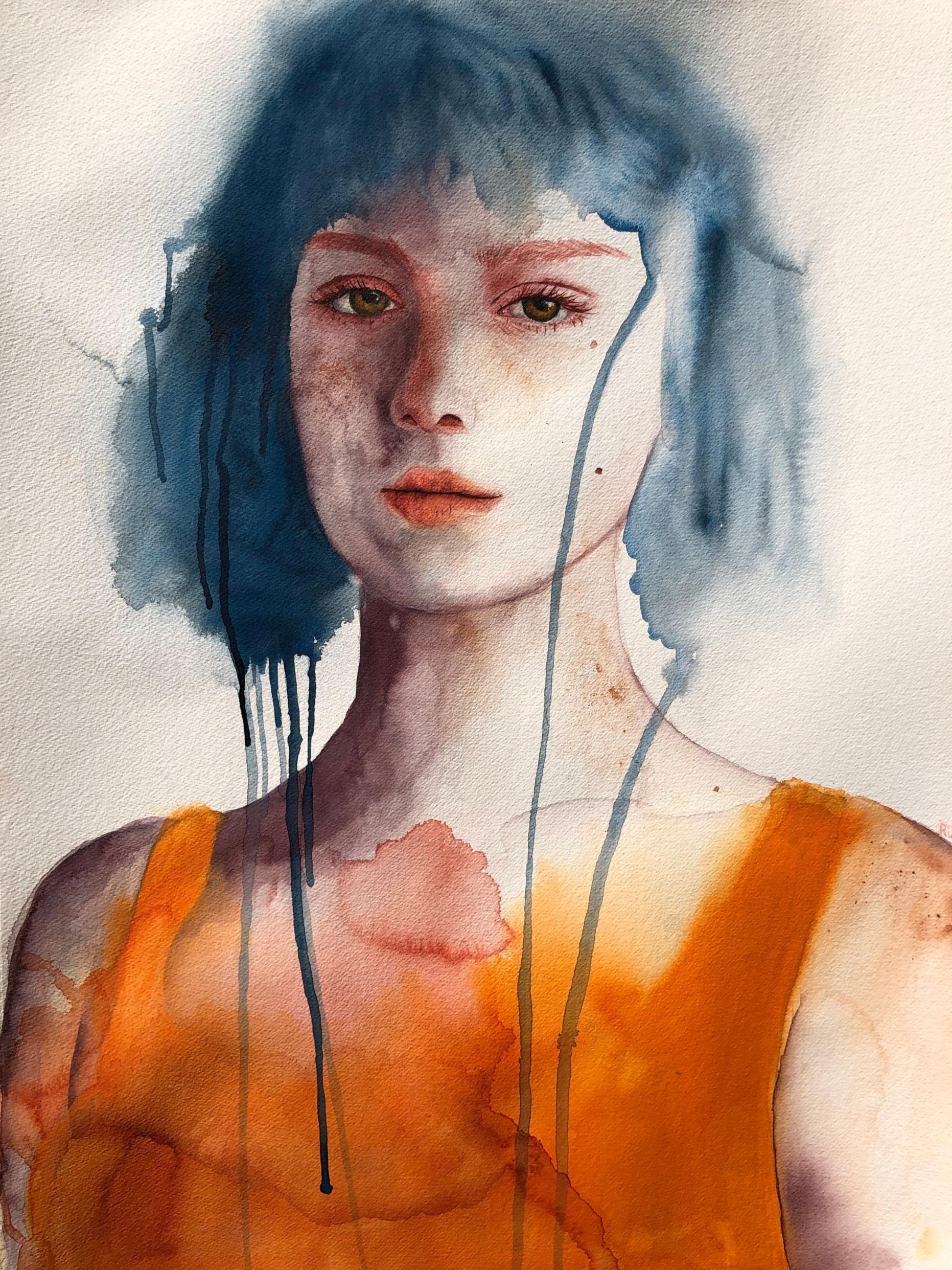 Imogen  Alisha Rich  Watercolour  640 gsm paper 560mm x 760mm