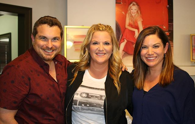 """@trishayearwood is here, and, well, we just adore her. Listen to the hour-long conversation at link in bio. . Trisha just released her first studio album in 12 years, """"Every Girl,"""" and Trisha tells us the title track, """"Every Girl In This Town,"""" is taking on a life a life of its own with its message of love and self-acceptance. Trisha looks back on her recent trip back home to Georgia as it relates to her new songs, """"Home"""" and """"Bible and a .44,"""" and tells us why she wouldn't let her husband, @garthbrooks , listen to the new album until it was finished. This episode is full of stories (Hello @cher !), laughter, a few tears and left both of us asking """"When can we hang with Trisha again?"""""""