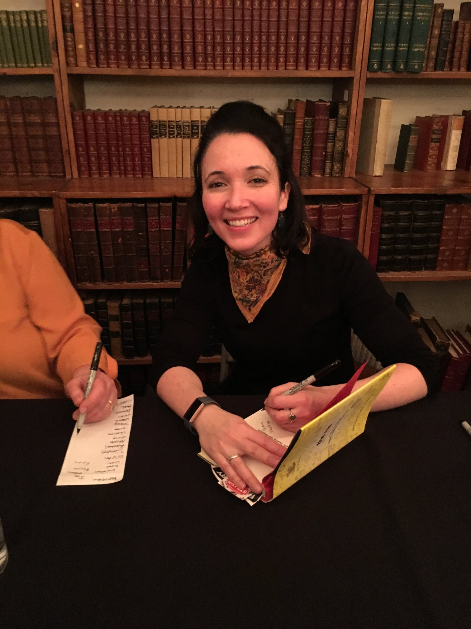 ME signing at Strand from Fiona.jpg