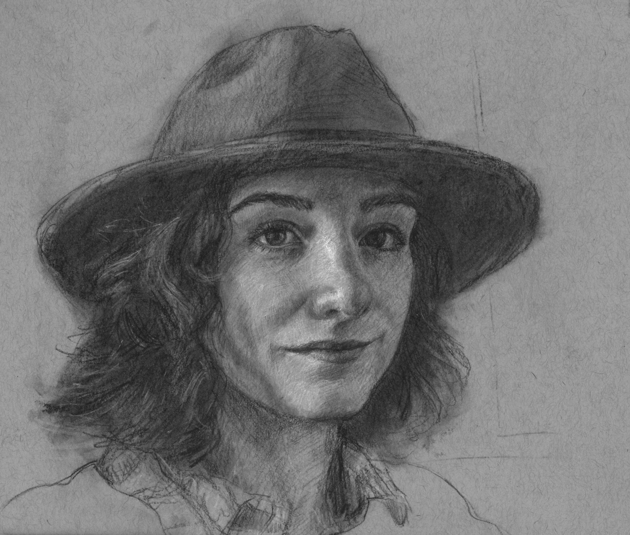 Liz in Hat