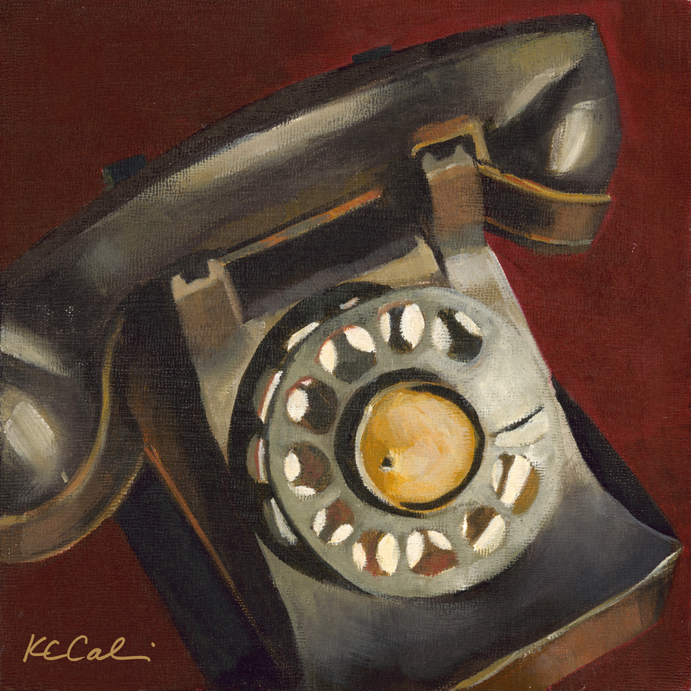 "Phone Noir |   8"" x 8"" 