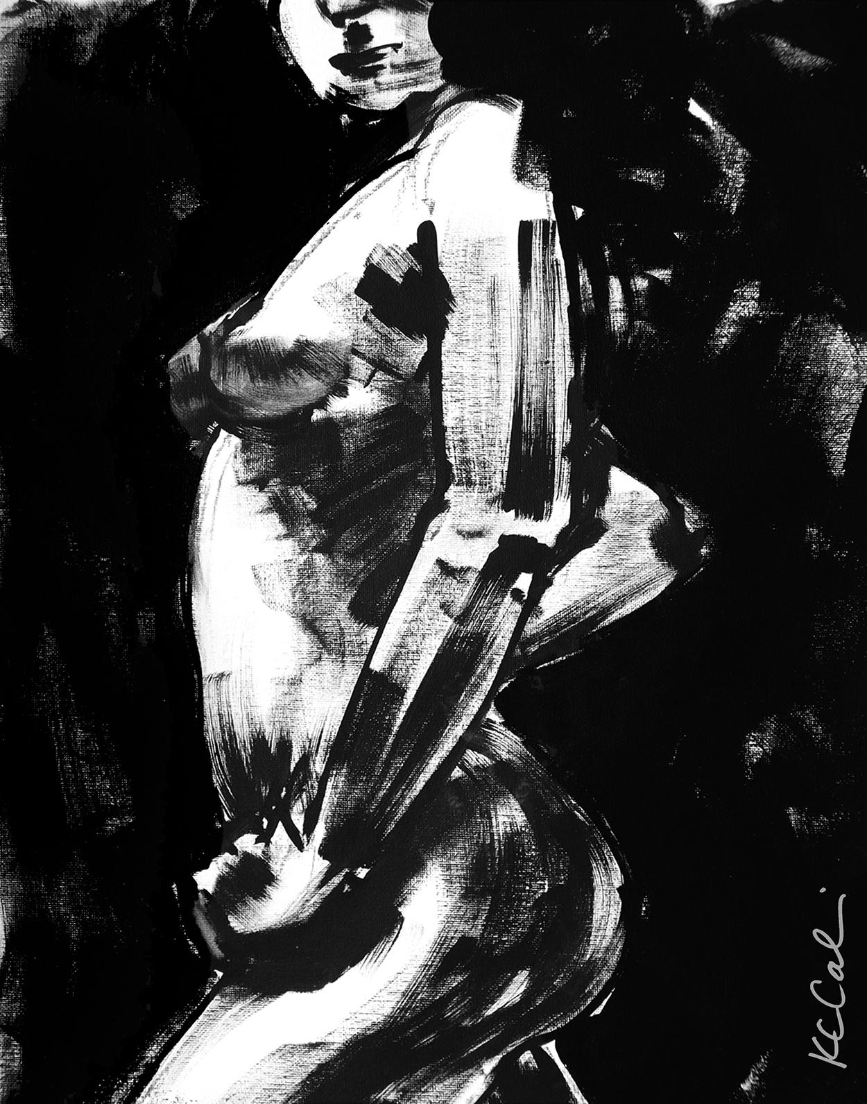 Torso 4  -  acrylic on canvas   [sold]