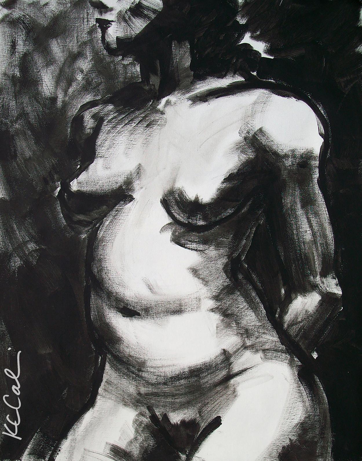 Torso 2 - -  acrylic on canvas   [sold]