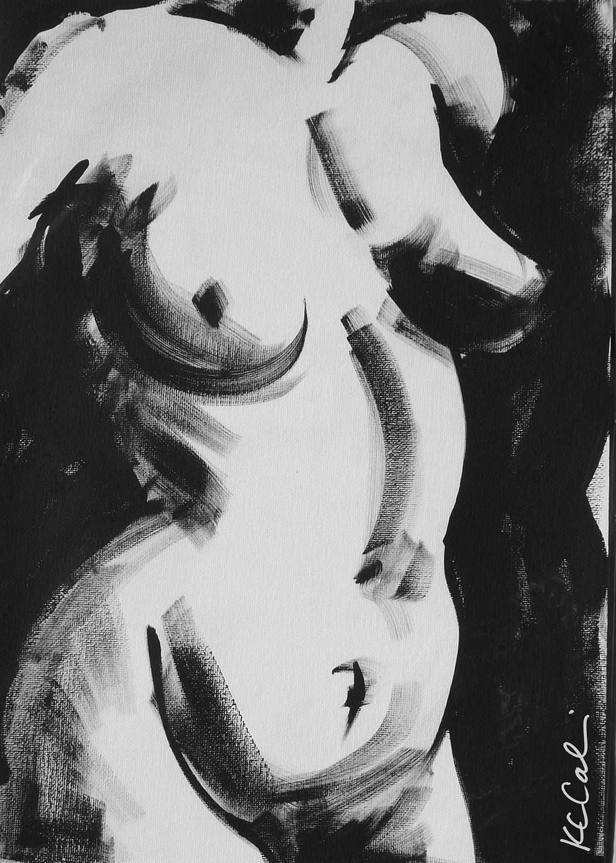 Torso 1 -  acrylic on canvas   [sold]