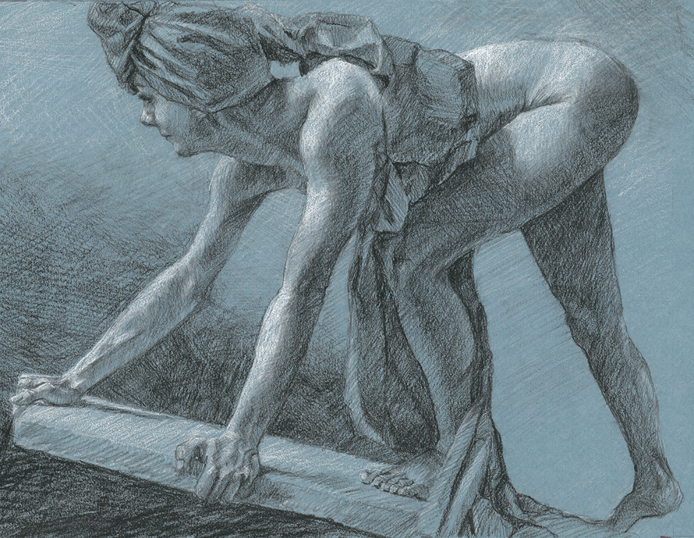 Ascent    |   charcoal on paper  |    AVAILABLE  | Contact me: kc@kccaliartist.com
