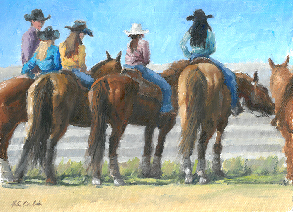 "Waiting to Ride  | 11.5"" x 8.5"""" 