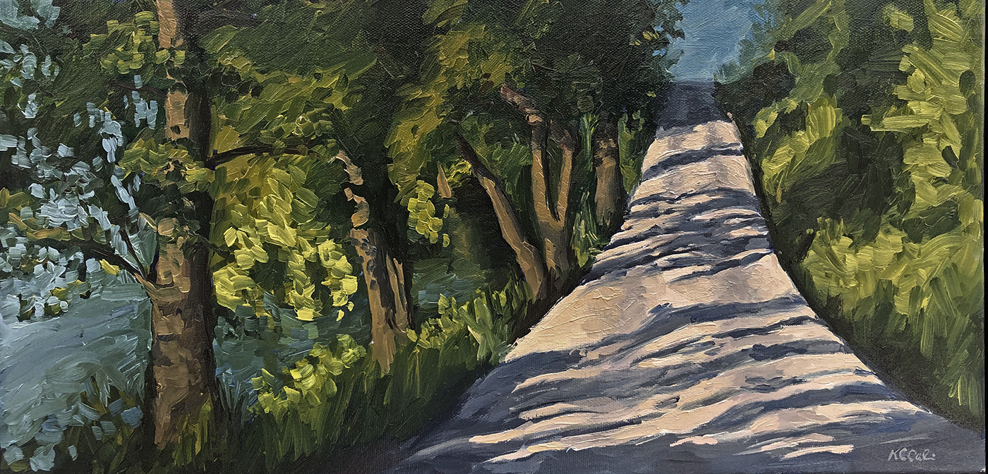 "Lake Street in June   |  20"" x 10""  