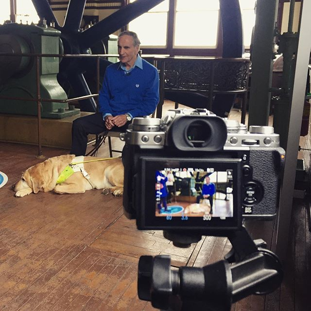 We're at the @kingstonpumphouse today with Rick, the sweetest man that ever did live, and his service pup, Owen. This is the 4th episode in this year's AccessAbility Campaign for #ygk #inspire #video #videography #photography #camera #fujifilm #rode #accessability #kingston #museum #travel #tour #history #shoot #cameragirl #like #follow